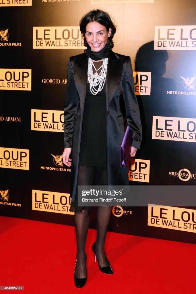 Model Ines Sastre attends the photocall before the party for 'The Wolf of Wall Street' World Premiere. Held at Palais Brogniart on December 9, 2013 in Paris, France.