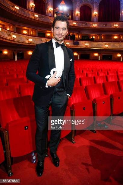 Model influencer and award winner David Gandy during the GQ Men of the year Award 2017 show at Komische Oper on November 9 2017 in Berlin Germany