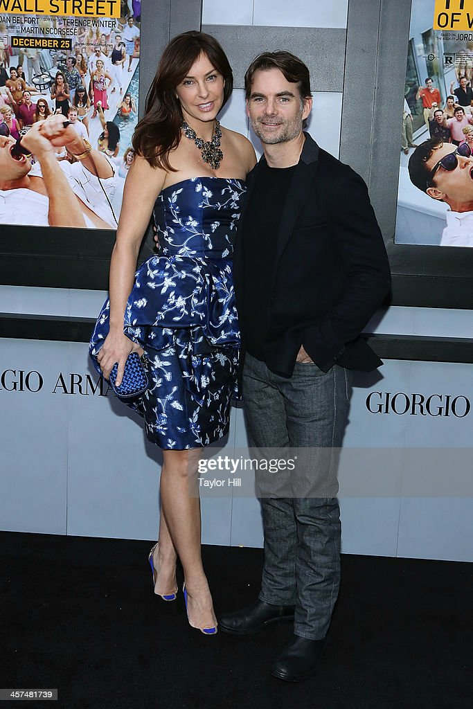 Model Ingrid Vandebosch and race car driver Jeff Gordon attend the 'The Wolf Of Wall Street' premiere at Ziegfeld Theater on December 17, 2013 in New York City.