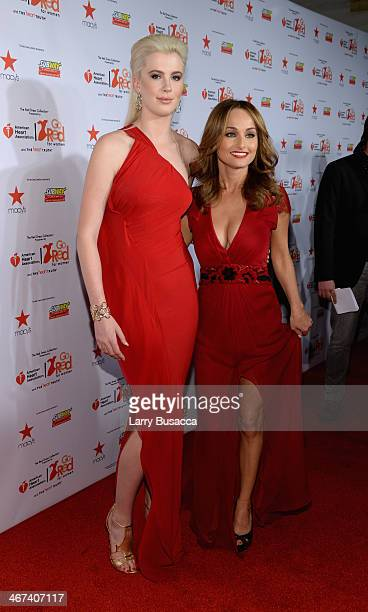 Model Ireland Baldwin and Chef Giada De Laurentiis attends Go Red For Women The Heart Truth Red Dress Collection 2014 Show Made Possible By Macy's...
