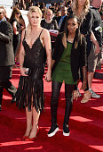 Model Ireland Baldwin and recording artist Angel Haze attend the 2014 MTV Video Music Awards at The Forum on August 24 2014 in Inglewood California