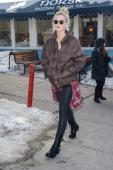 Model Ireland Baldwin walks in Park City on January 18 2014 in Salt Lake City Utah