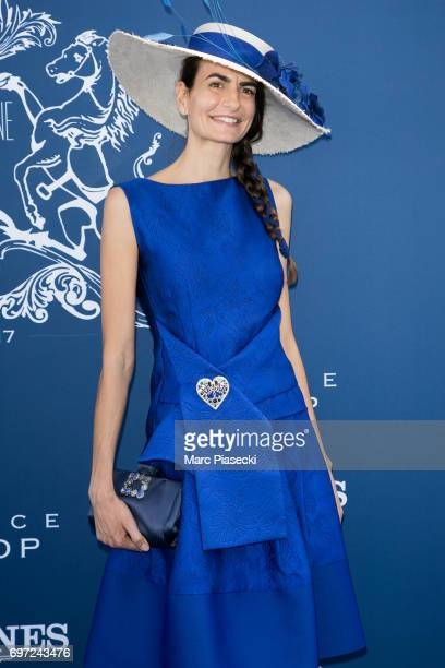 Model Irene Salvador attends the 'Prix de Diane Longines 2017' on June 18 2017 in Chantilly France