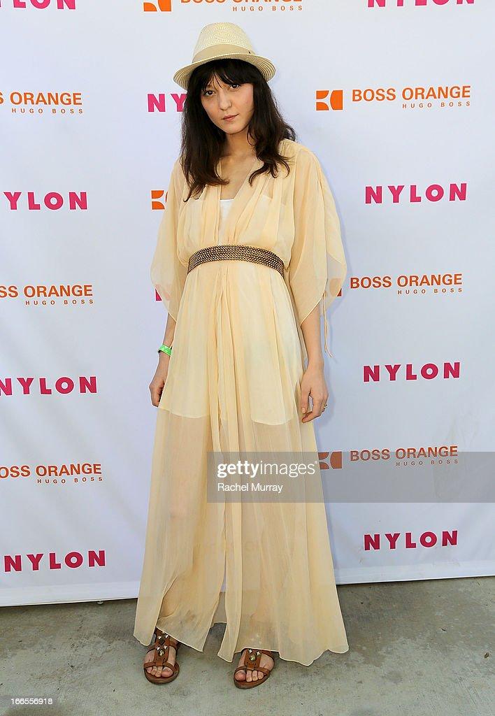 Model Irina Lazareanu attends NYLON x BOSS ORANGE Escape House - Day 1 at Lake La Quinta Inn on April 13, 2013 in La Quinta, California.