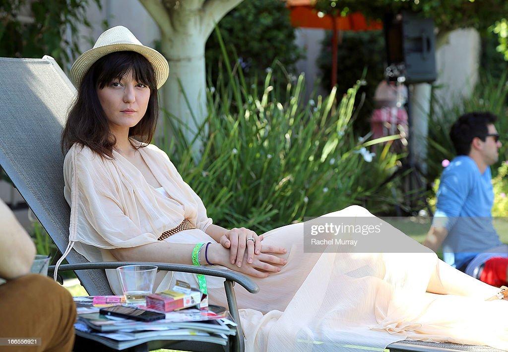 Model <a gi-track='captionPersonalityLinkClicked' href=/galleries/search?phrase=Irina+Lazareanu&family=editorial&specificpeople=3806030 ng-click='$event.stopPropagation()'>Irina Lazareanu</a> attends NYLON x BOSS ORANGE Escape House - Day 1 at Lake La Quinta Inn on April 13, 2013 in La Quinta, California.