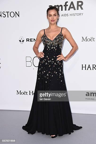 Model Irina Shayk arrives at amfAR's 23rd Cinema Against AIDS Gala at Hotel du CapEdenRoc on May 19 2016 in Cap d'Antibes France