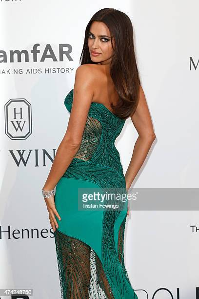Model Irina Shayk attends amfAR's 22nd Cinema Against AIDS Gala Presented By Bold Films And Harry Winston at Hotel du CapEdenRoc on May 21 2015 in...
