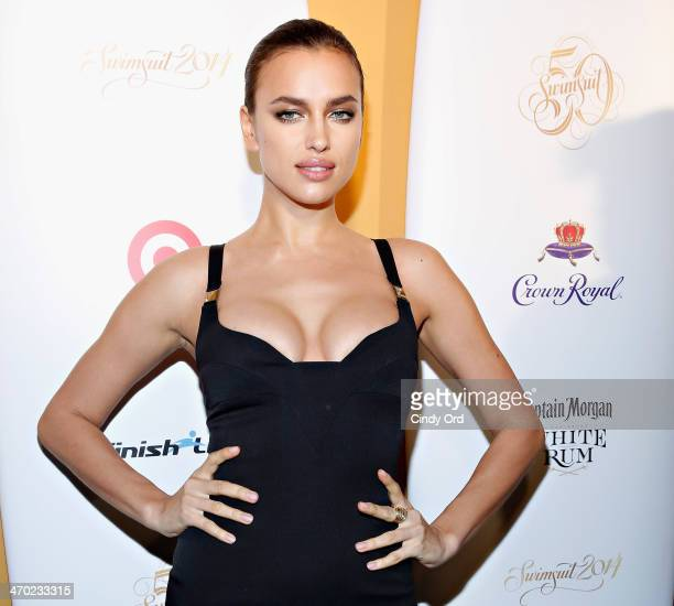 Model Irina Shayk attends as Captain Morgan White Rum and Crown Royal XO raise a glass to the Sports Illustrated Swimsuit 50 Years of Swim Issue at...