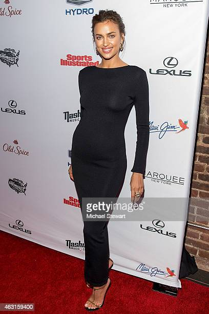Model Irina Shayk attends the 2015 Sports Illustrated Swimsuit Issue celebration at Marquee on February 10 2015 in New York City