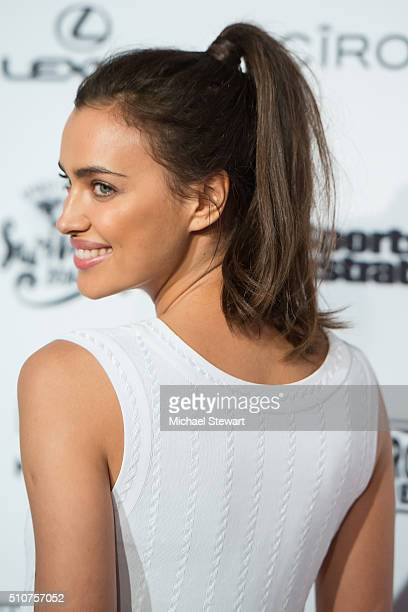 Model Irina Shayk attends the 2016 Sports Illustrated Swimsuit Launch Celebration at Brookfield Place on February 16 2016 in New York City
