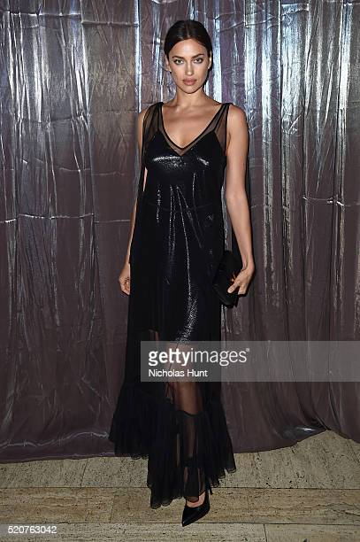 Model Irina Shayk attends the Foundation Fighting Blindness World Gala at Cipriani 42nd Street on April 12 2016 in New York City