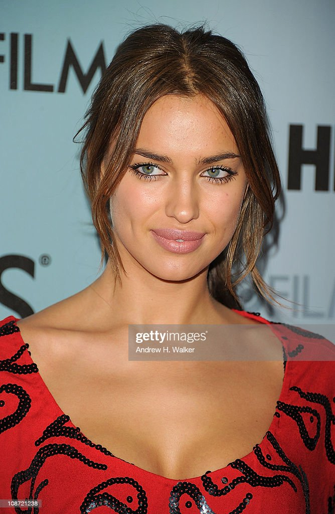 Model Irina Shayk attends the HBO Films & The Cinema Society screening of 'Sunset Limited' at the Time Warner Screening Room on February 1, 2011 in New York City.
