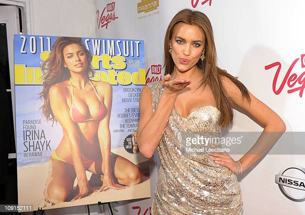 Model Irina Shayk attends the SI Swimsuit Launch Party hosted By Pranna at Pranna Restaurant on February 15 2011 in New York City
