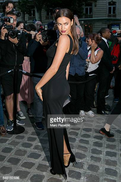 Model Irina Shayk attends the Vogue Foundation Gala 2016 at Palais Galliera on July 5 2016 in Paris France