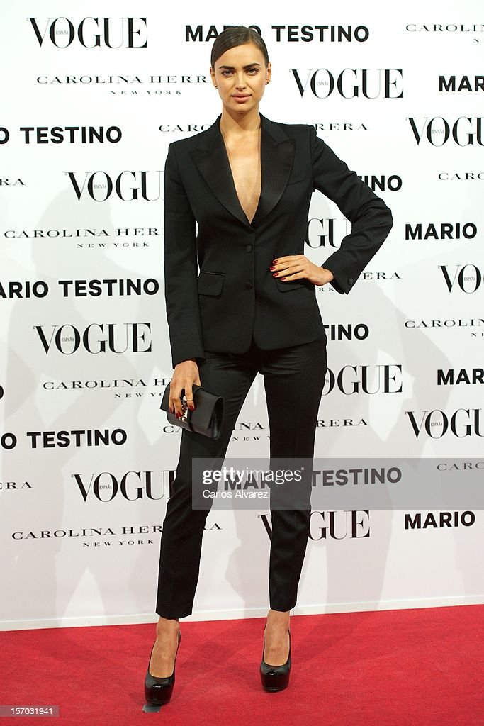 Model Irina Shayk attends the Vogue & Mario Testino party at Fernan Nunez Palace on November 27, 2012 in Madrid, Spain.