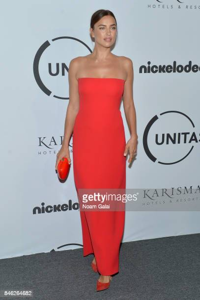 Model Irina Shayk attends Unitas Third Annual Gala Against Human Trafficking at Capitale on September 12 2017 in New York City