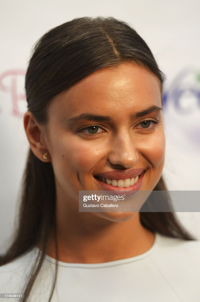 Model Irina Shayk backstage with TRESemme at the Beach Bunny show during Mercedes-Benz Fashion Week Swim 2014 at Cabana Grande at the Raleigh on July 19, 2013 in Miami, Florida.