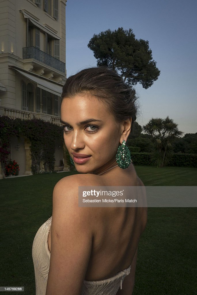Model Irina Shayk is photographed at the amfAR gala for Paris Match on May 24, 2012 in Cap d'Antibes, France.