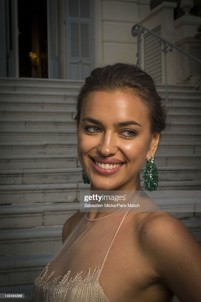 Model Irina Shayk photographed at the amfAR Cinema Against AIDS gala, for Paris Match on May 24, 2012, in Cap d'Antibes, France.