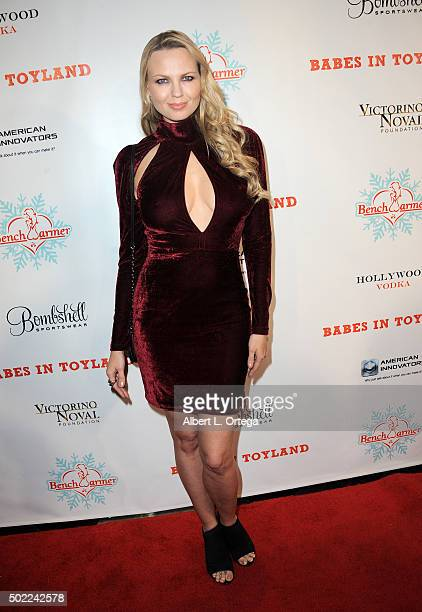 Model Irina Voronina arrives for the 2015 Babes In Toyland And BenchWarmer Charity Toy Drive held at Avalon on December 9 2015 in Hollywood California