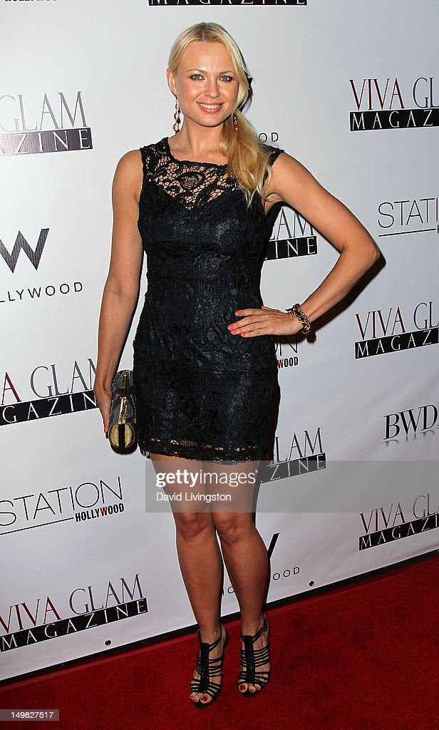 Model Irina Voronina attends the Viva Glam Magazine September Issue launch party at Station Hollywood on July 31, 2012 in Hollywood, California.