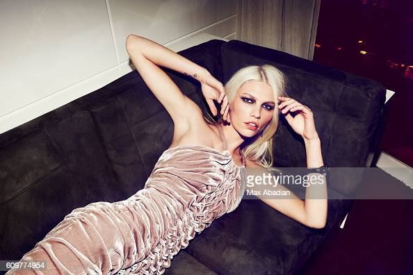 A Model is photographed for a fashion editorial for Estilo on February 13 2012 in New York City Published Image