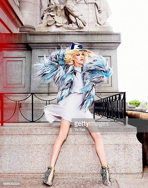 Model is photographed for a fashion editorial for Harpers Bazaar Singapore on May 5 2014 in New York City Published Image
