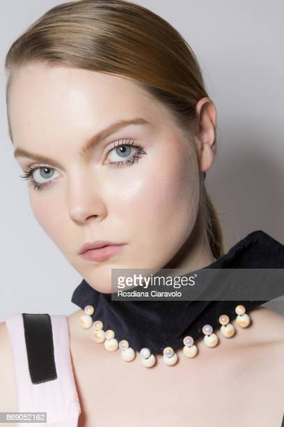Model is seen ahead of Anna K International Guest show at Dubai Design District on October 27 2017 in Dubai United Arab Emirates