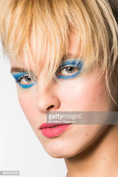 Model is seen ahead of Retail Runway show at Dubai Design District on October 27 2017 in Dubai United Arab Emirates