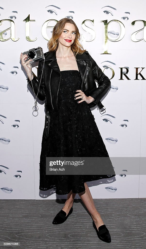 A model is seen at the Kate Spade New York presentation during Fall 2016 New York Fashion Week at The Rainbow Room on February 12, 2016 in New York City.