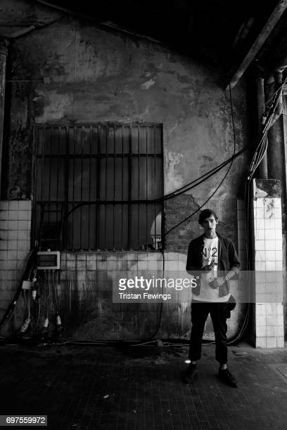 A model is seen backstage ahead of the N21 show during Milan Men's Fashion Week Spring/Summer 2018on June 19 2017 in Milan Italy