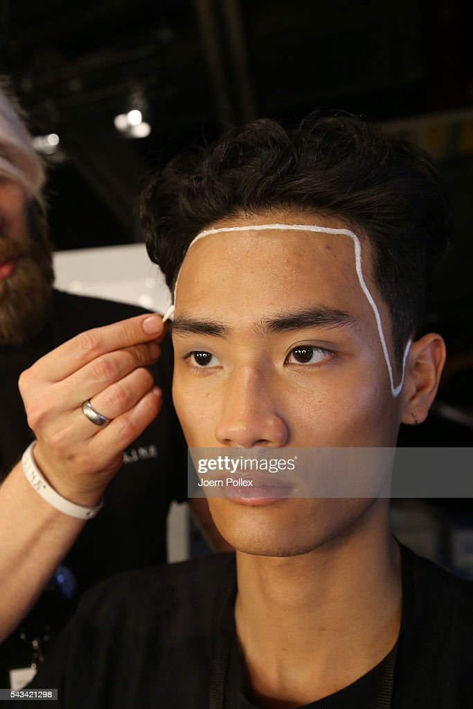 A model is seen backstage ahead of the Odeur show during the Mercedes-Benz Fashion Week Berlin Spring/Summer 2017 at Erika Hess Eisstadion on June 28, 2016 in Berlin, Germany.