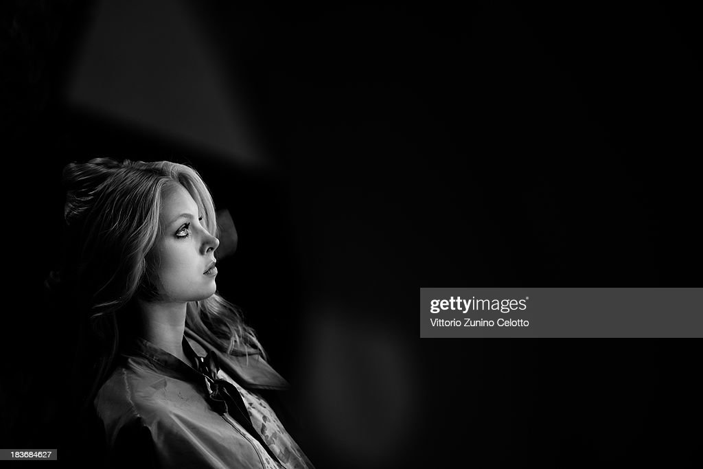 A model is seen backstage at the Lug Von Siga show during Mercedes-Benz Fashion Week Istanbul s/s 2014 presented by American Express on October 8, 2013 in Istanbul, Turkey.