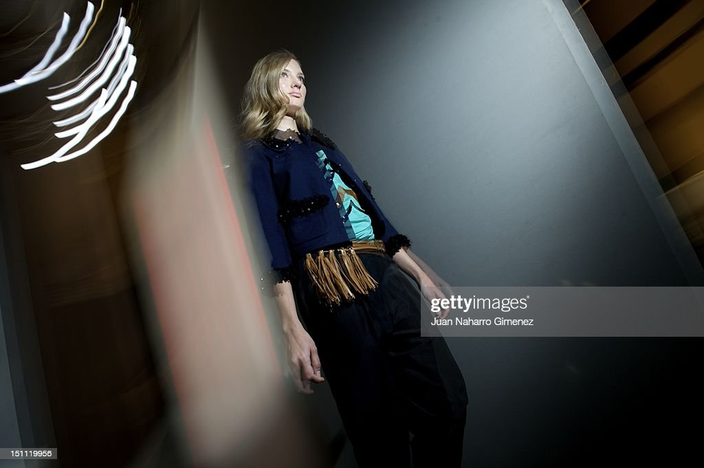 A model is seen backstage during the Cibeles Madrid Fashion Week Spring/Summer 2013 at Ifema on September 1, 2012 in Madrid, Spain.
