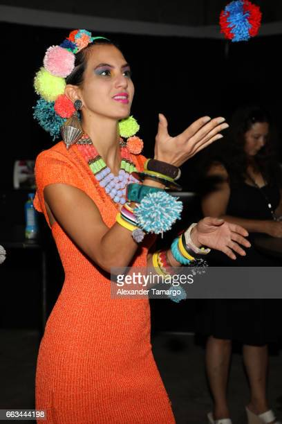 A model is seen wearing a creation for ArtaPorter at Underground Lauderdale Fashion Weekend Brought To You By The Greater Fort Lauderdale Conventions...