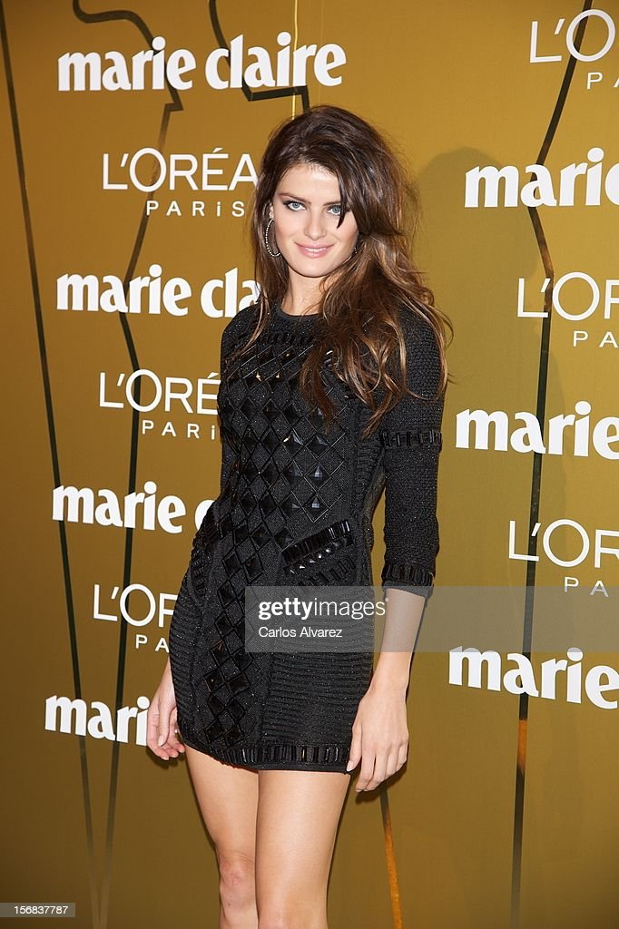 Model Isabeli Fontana attends Marie Claire Prix de la Moda Awards 2012 at the French Embassy on November 22, 2012 in Madrid, Spain.