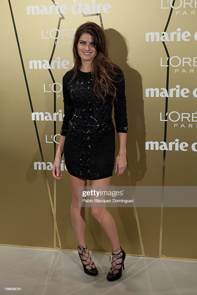 Model Isabeli Fontana attends Marie Claire Prix de la Moda Awards 2012 at French Embassy on November 22, 2012 in Madrid, Spain.