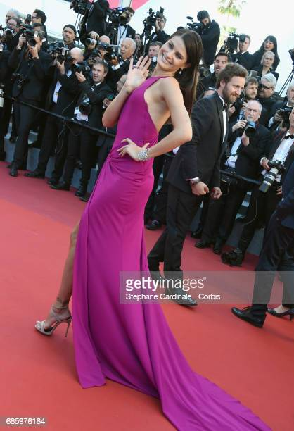 Model Isabeli Fontana attends the '120 Beats Per Minute ' premiere during the 70th annual Cannes Film Festival at Palais des Festivals on May 20 2017...