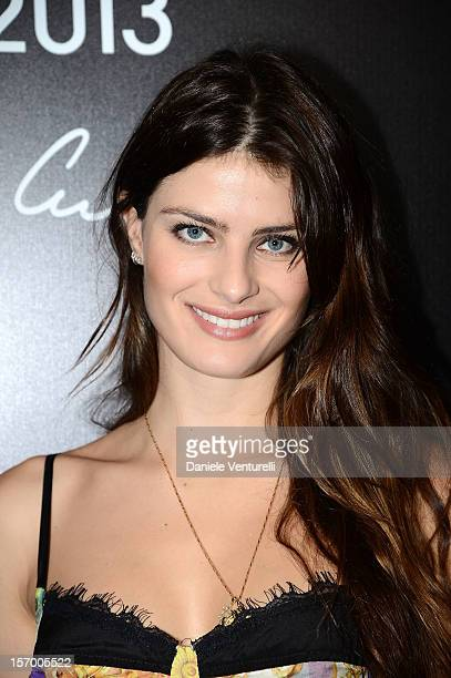 Model Isabeli Fontana attends the 2013 Pirelli Calendar Unveiling Press Conference at Hotel Palace Copacabana on November 27 2012 in Rio de Janeiro...