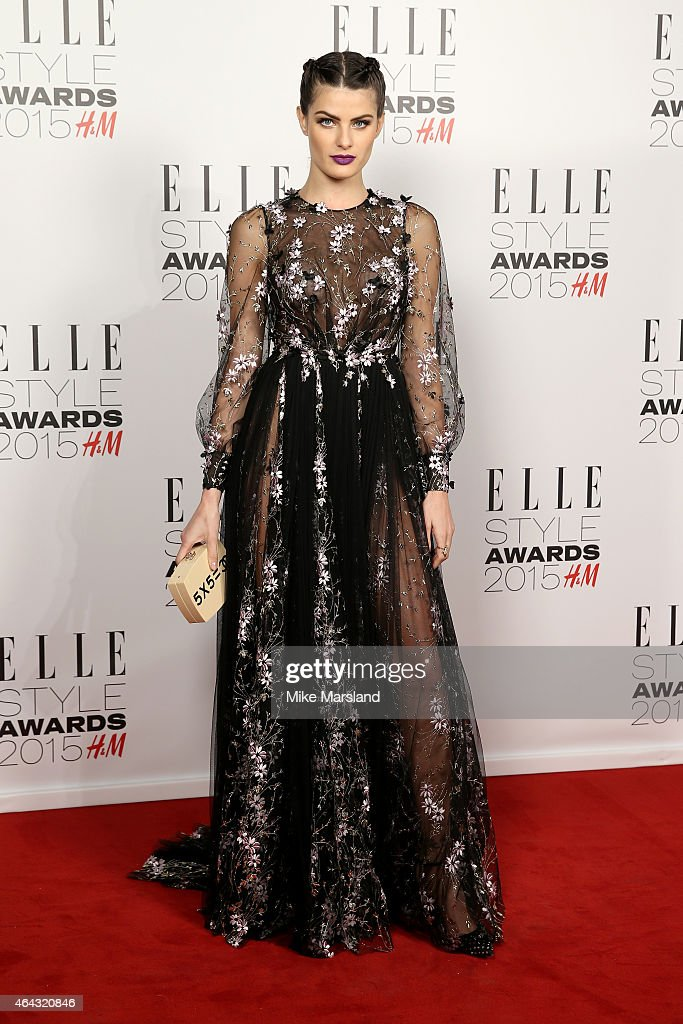 Model Isabeli Fontana attends the Elle Style Awards 2015 at Sky Garden @ The Walkie Talkie Tower on February 24 2015 in London England