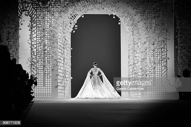 Model Isabeli Fontana walks the runway during the Ralph Russo Spring Summer 2016 show as part of Paris Fashion Week on January 25 2016 in Paris France