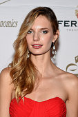 Model Isabella Oberg attends The New York Ball The 20th Anniversary Benefit for The European School Of Economics at Trump Tower on November 19 2014...