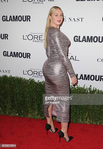 Model Iskra Lawrence arrives at Glamour Women Of The Year 2016 at NeueHouse Hollywood on November 14 2016 in Los Angeles California