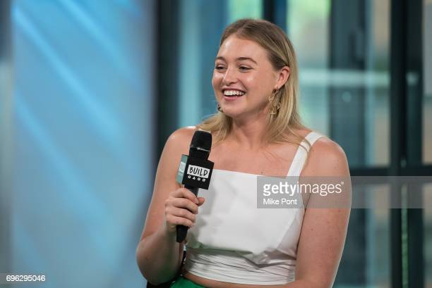 Model Iskra Lawrence visits Build Studio to discuss her involvement with NEDA at Build Studio on June 15 2017 in New York City