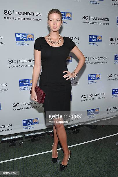 Model Ivanka Trump attends a benefit for the United Way of New York City and the Shawn Carter Foundation at Carnegie Hall on February 7 2012 in New...