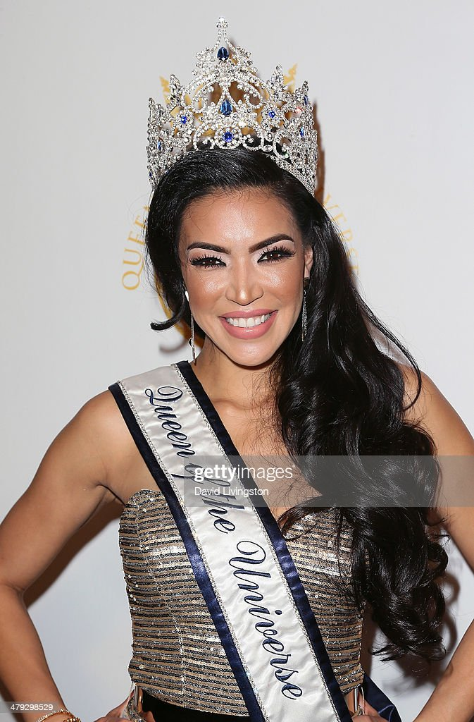 Model Ivette Saucedo attends the Queen of the Universe International Beauty Pageant at the Saban Theatre on March 16, 2014 in Beverly Hills, California.