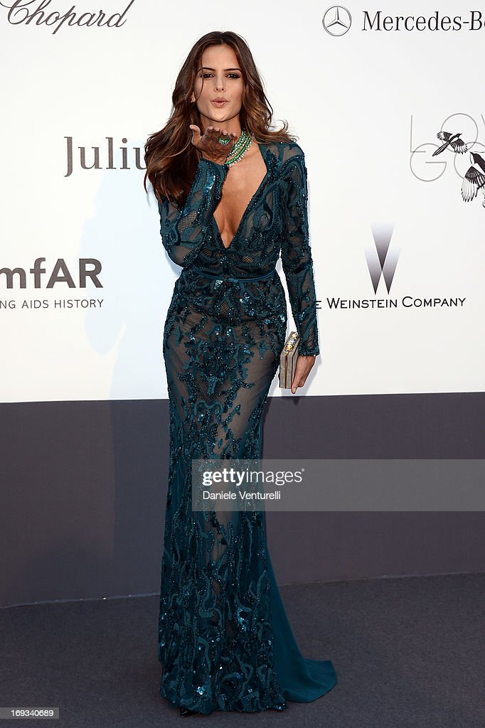 Model Izabel Goulart attends amfAR's 20th Annual Cinema Against AIDS during The 66th Annual Cannes Film Festival at Hotel du Cap-Eden-Roc on May 23, 2013 in Cap d'Antibes, France.