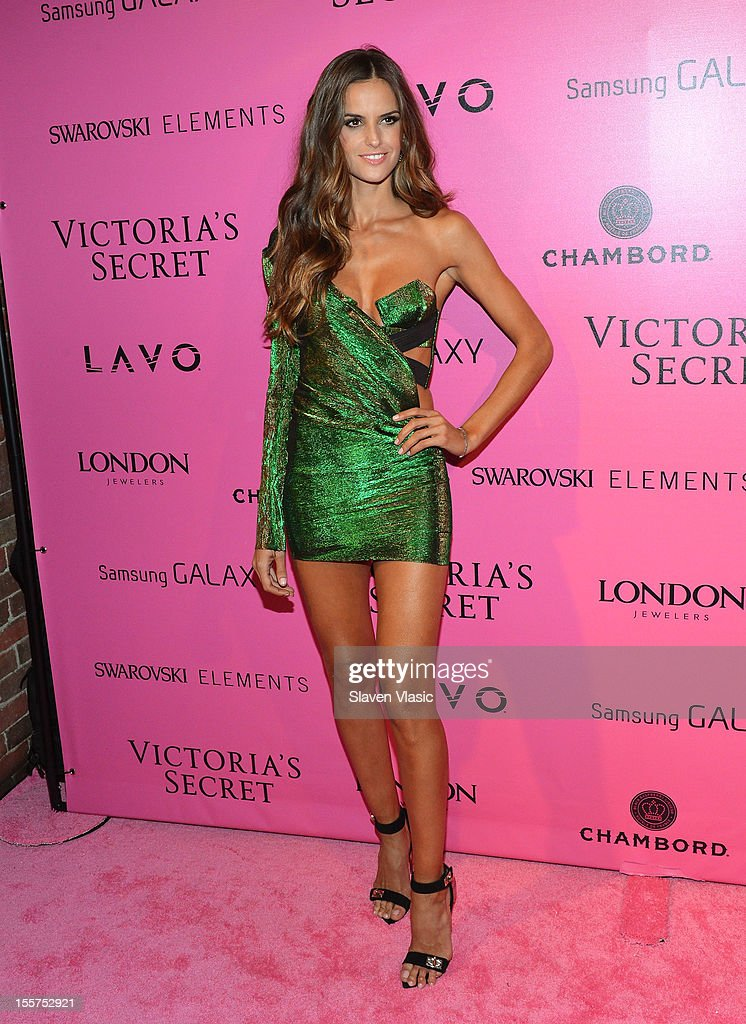 Model Izabel Goulart attends Samsung Galaxy features arrivals at the official Victoria's Secret fashion show after party on November 7, 2012 in New York City.