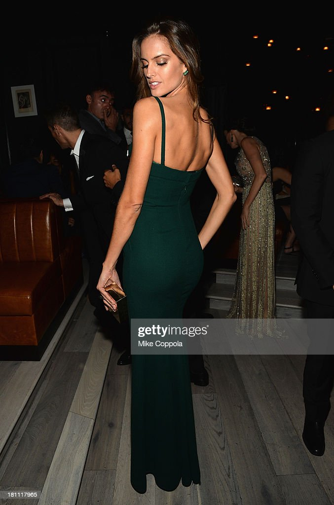 Model <a gi-track='captionPersonalityLinkClicked' href=/galleries/search?phrase=Izabel+Goulart&family=editorial&specificpeople=566749 ng-click='$event.stopPropagation()'>Izabel Goulart</a> attends the 11th BrazilFoundation NYC Gala after party at Bar Nana on September 18, 2013 in New York City.