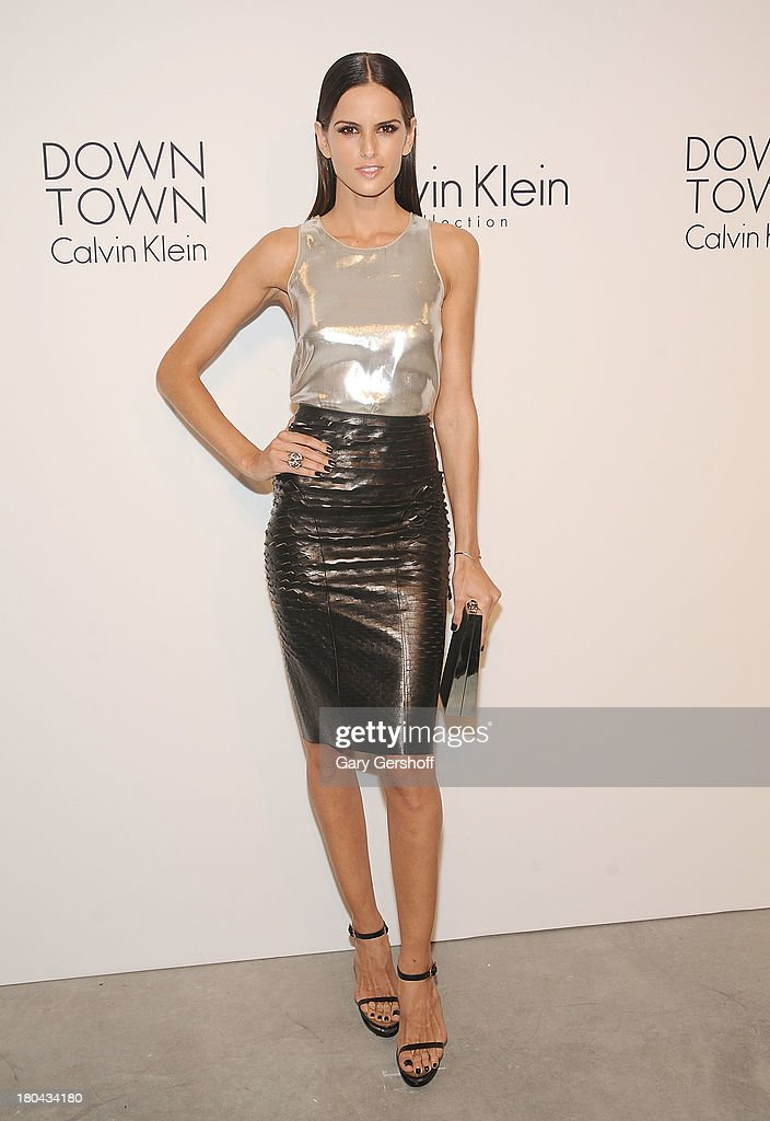 Model <a gi-track='captionPersonalityLinkClicked' href=/galleries/search?phrase=Izabel+Goulart&family=editorial&specificpeople=566749 ng-click='$event.stopPropagation()'>Izabel Goulart</a> attends the Calvin Klein Collection post show event at Spring Studios on September 12, 2013 in New York City.